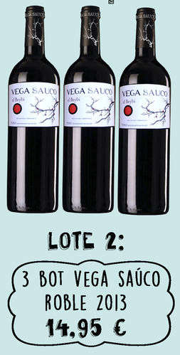 lote 2 ................. 3 botellas Vega Saúco Roble 2013
